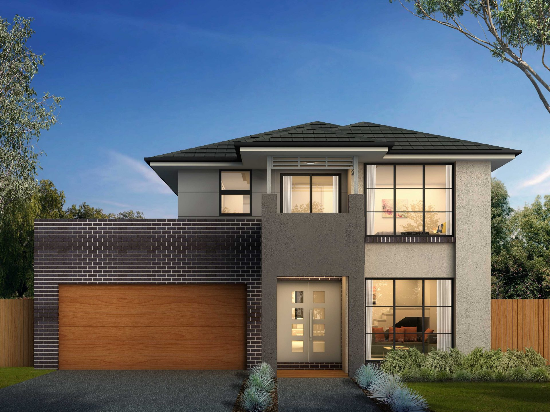 Home Ceres 32, Modern Façade With Balcony New Home Design Sydney