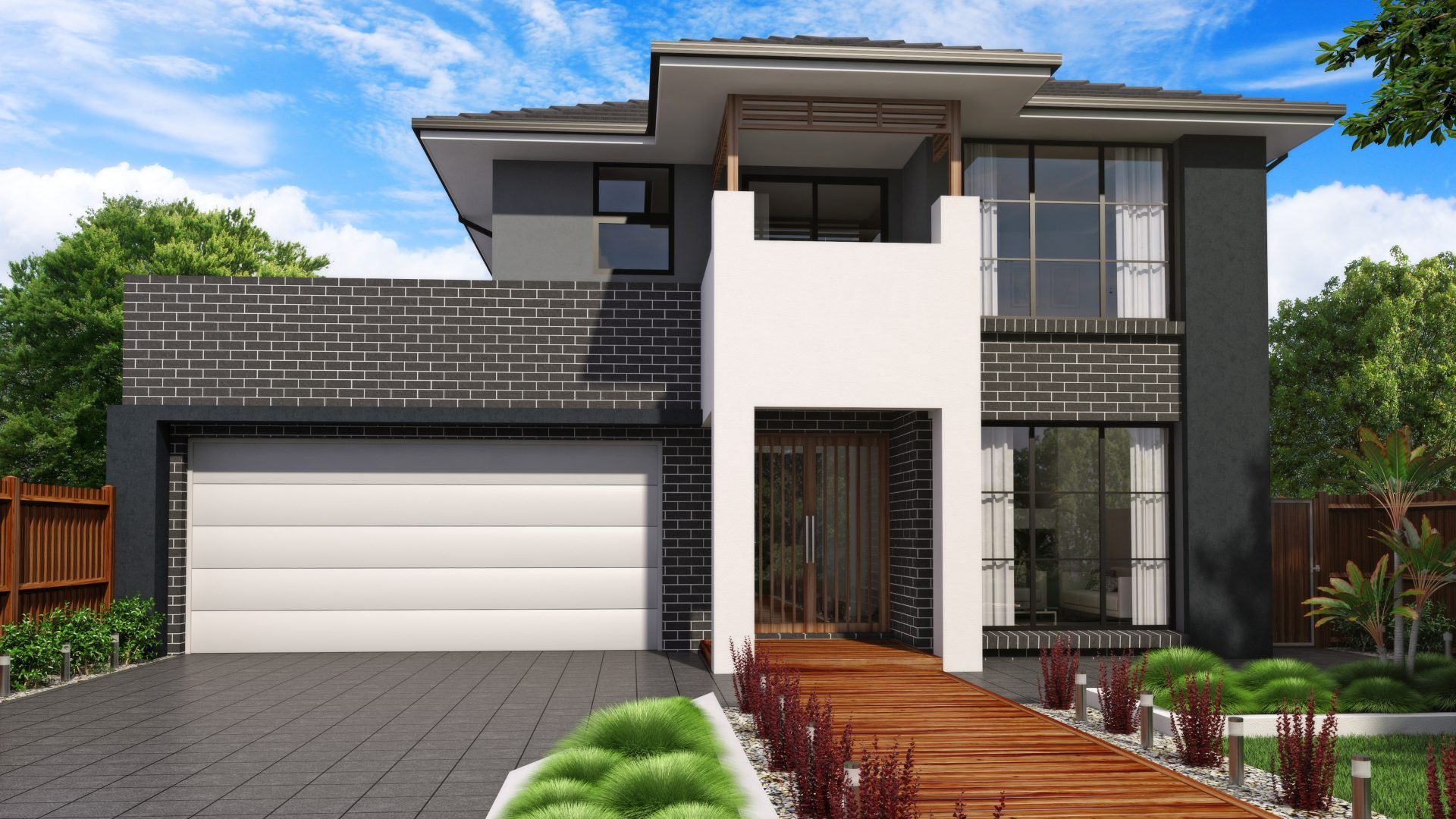 Stellar 22 modern fa ade jandson homes - New house design ...
