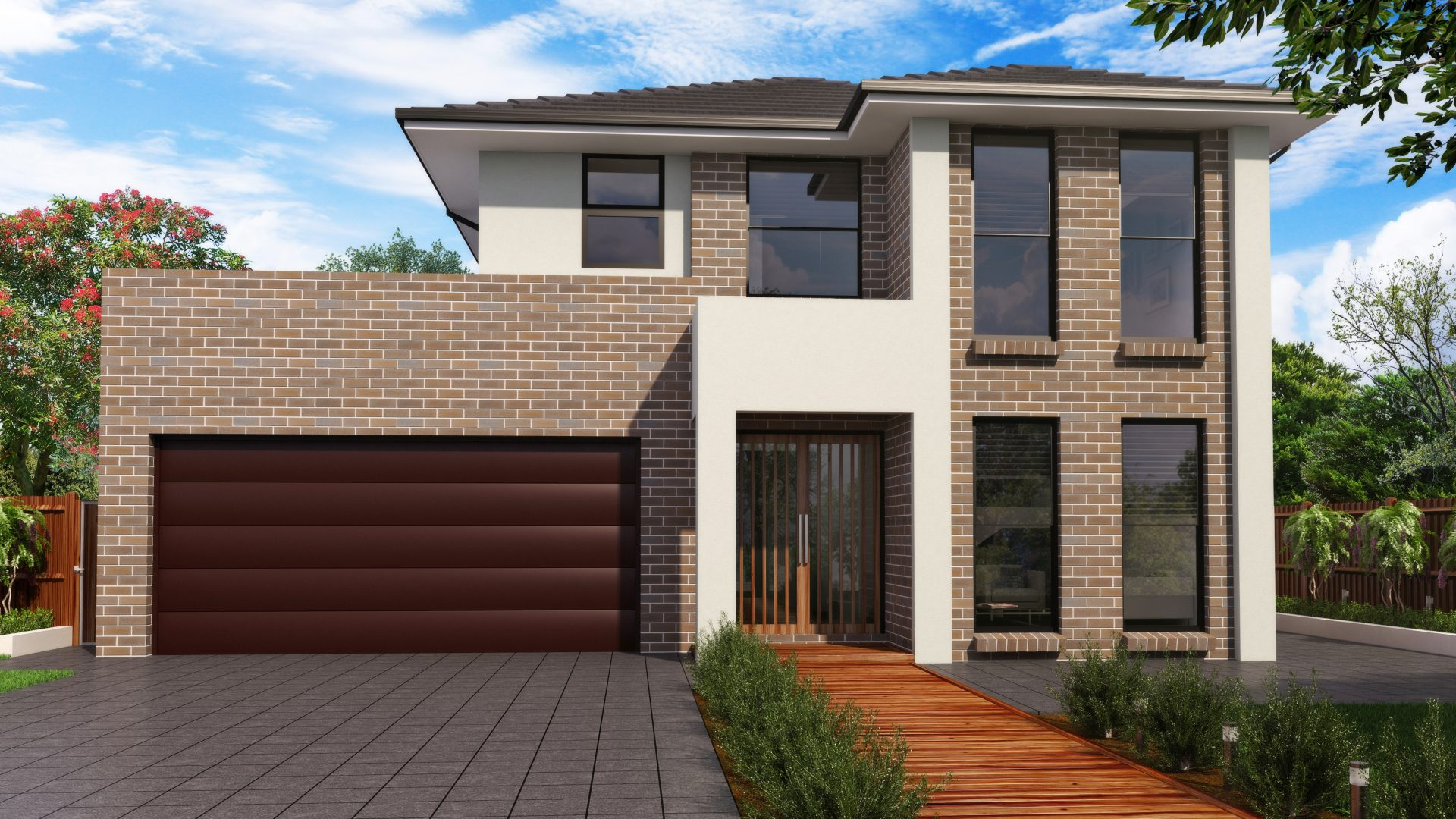 New two storey home design for New home facade design