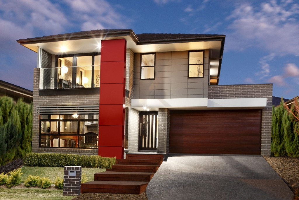 Jandson Homes Stellar-31-Modern-Facade-with-Balcony
