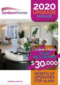 Jandson homes, build, homes, display, custom, 2020 Inclusions